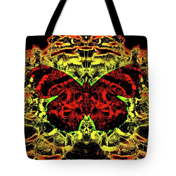Fear Of The Red Admirals Tote Bag