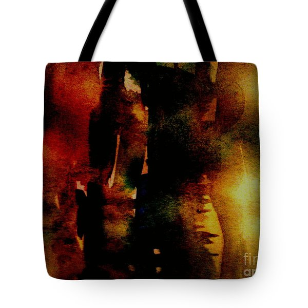 Tote Bag featuring the painting Fear On The Dark by Rushan Ruzaick
