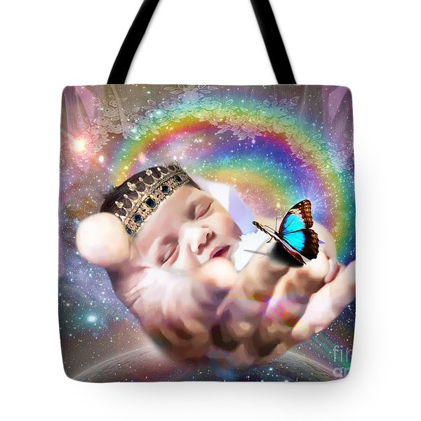 Tote Bag featuring the digital art Fearfully And Wonderfully Created by Dolores Develde