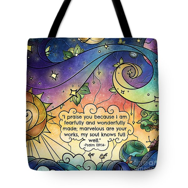 Fearfully And Wonderfully Made Tote Bag