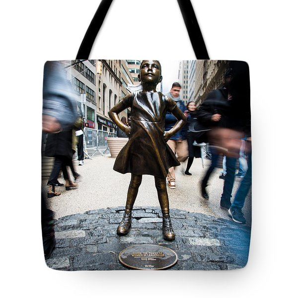 Fearless Girl Tote Bag
