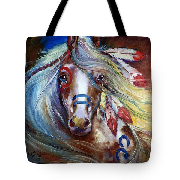 Fearless Indian War Horse Tote Bag