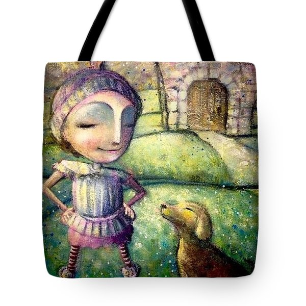 Tote Bag featuring the painting Fearless Leader by Eleatta Diver