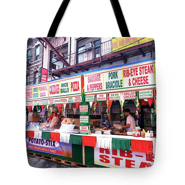 Tote Bag featuring the photograph Feast Food Choices by John Rizzuto