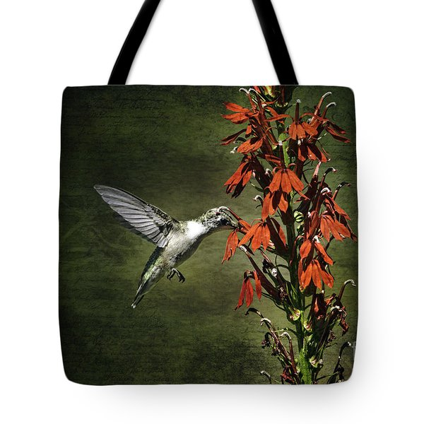 Tote Bag featuring the photograph Feasting by Judy Wolinsky
