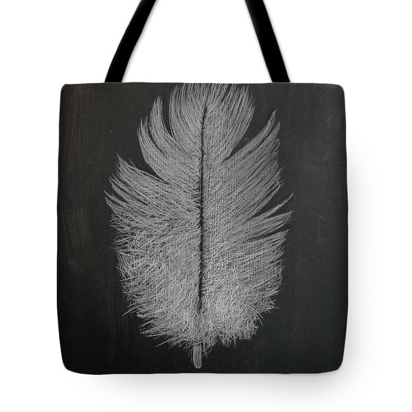 Tote Bag featuring the pastel Feather 1 by Richard Le Page