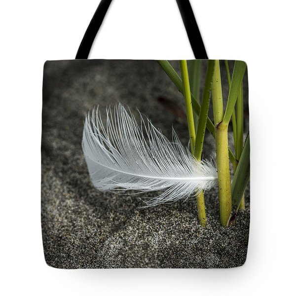 Feather And Beach Grass Tote Bag