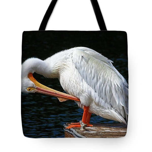 Feather Check Tote Bag by HH Photography of Florida
