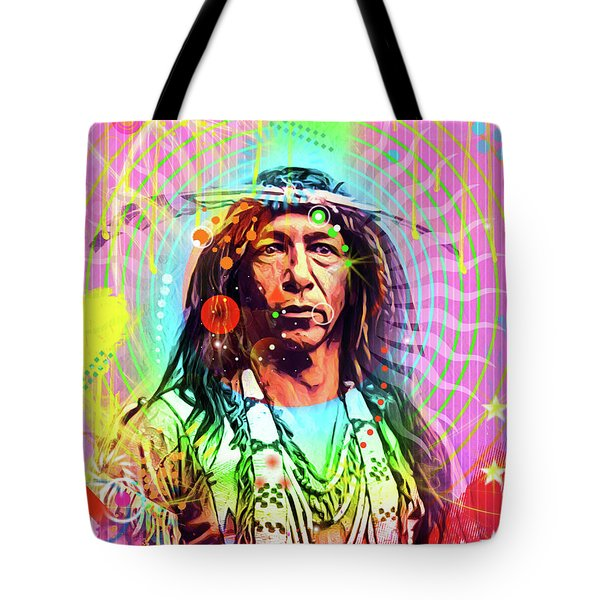 Feather Chief Tote Bag by Gary Grayson