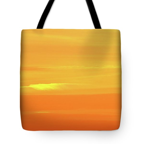 Feather Cloud In An Orange Sky  Tote Bag by Lyle Crump