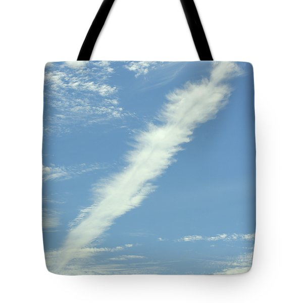 Tote Bag featuring the photograph Feather Cloud by Susan Wiedmann