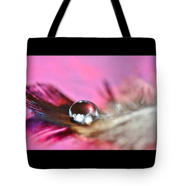 Feather Drop Tote Bag