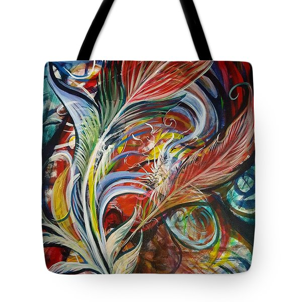 Feather Fury Tote Bag