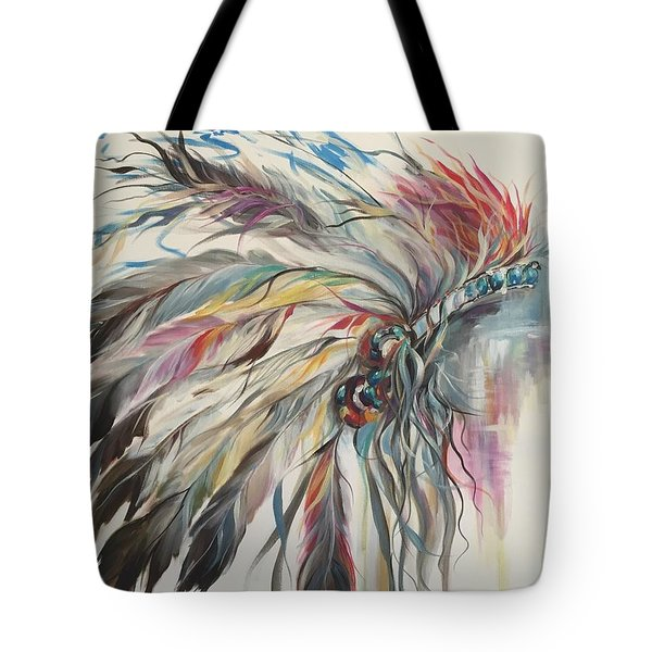 Feather Hawk Tote Bag