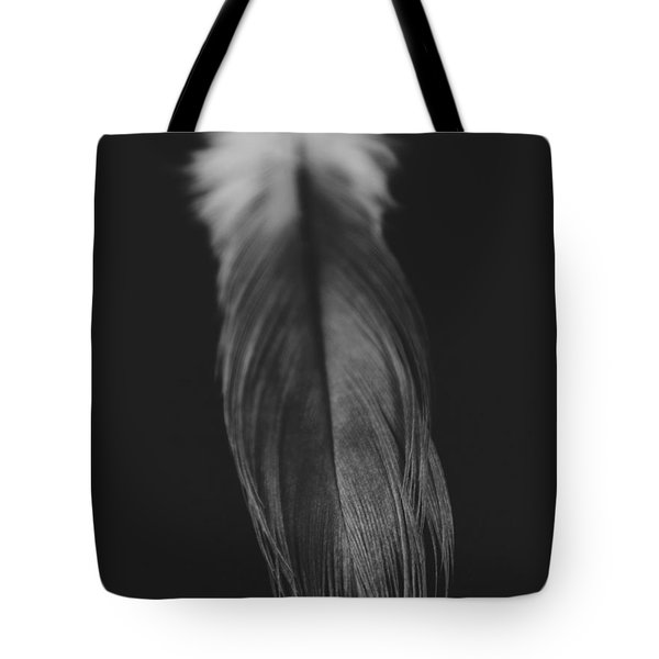 Feather In Black And White Tote Bag