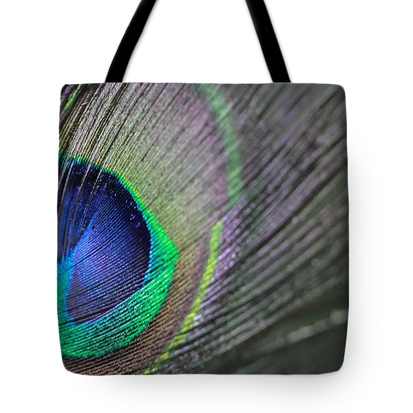 Feather In Green Tote Bag