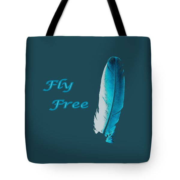 Feather Of Free Flight Tote Bag by Aliceann Carlton