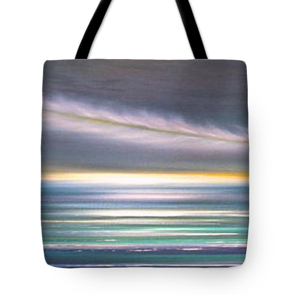 Feather Panoramic Sunset Tote Bag