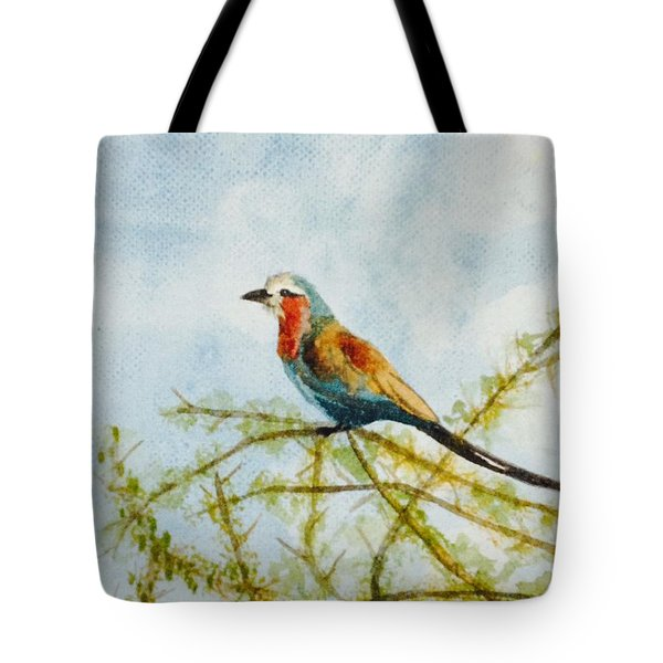 Tote Bag featuring the painting Feather Weight by Elizabeth Mundaden