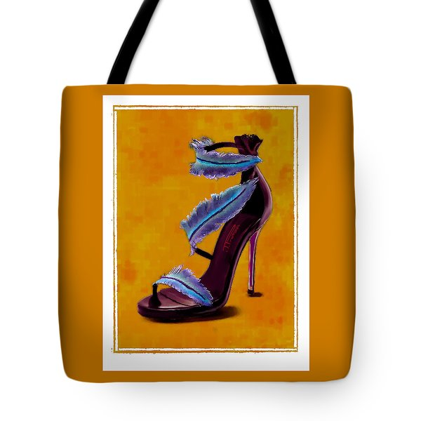 Feathered Evening Shoe Tote Bag by Jann Paxton