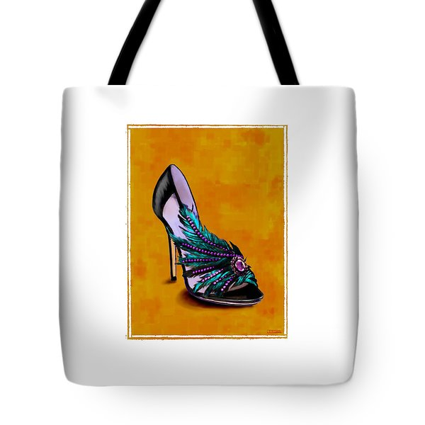 Feathered Evening Slipper Tote Bag