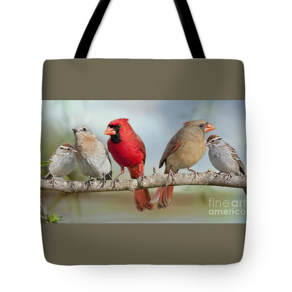 Feathered Fellowship Tote Bag