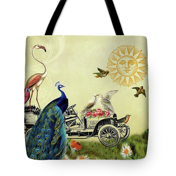 Feathered Friends In Paris, France Tote Bag
