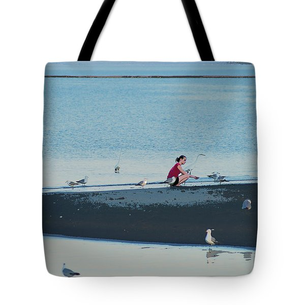 Feathered Friends  Poster Tote Bag