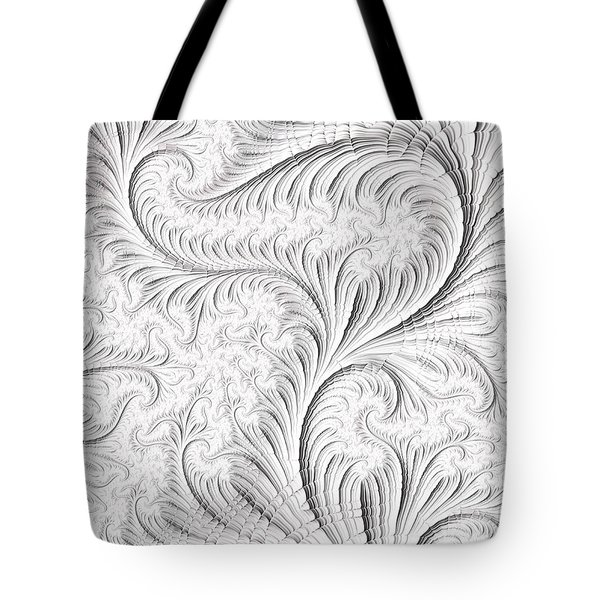Tote Bag featuring the digital art Feathered by Michele A Loftus