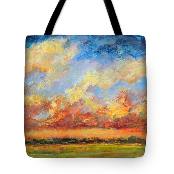 Feathered Sky Tote Bag