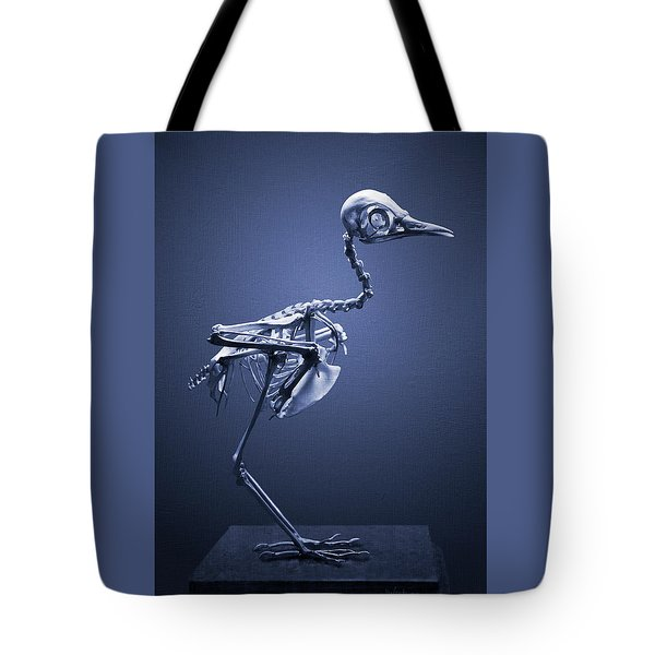 Tote Bag featuring the photograph Featherless In Blue by Joseph Westrupp