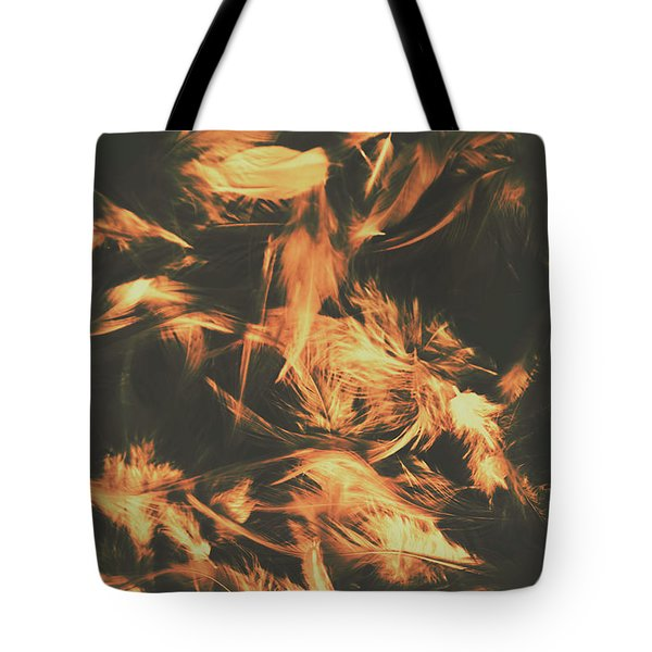 Feathers And Darkness Tote Bag