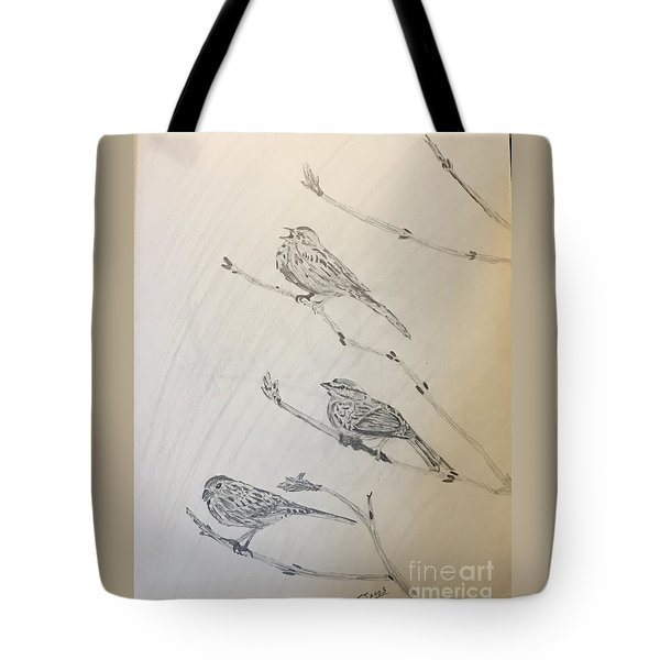 Feathers Friends Tote Bag