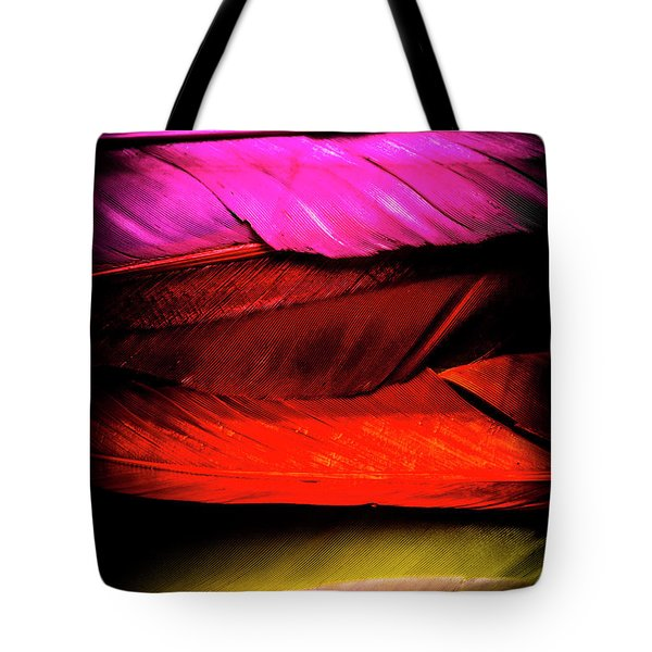 Feathers Of Rainbow Color Tote Bag