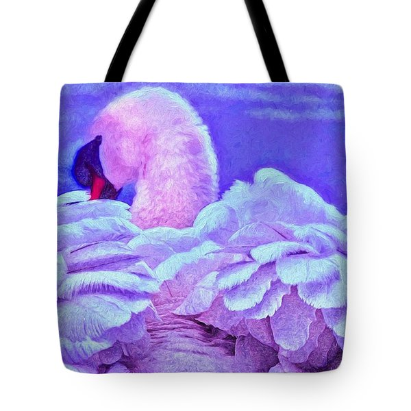 Feathers Of Royalty Tote Bag by Dennis Baswell