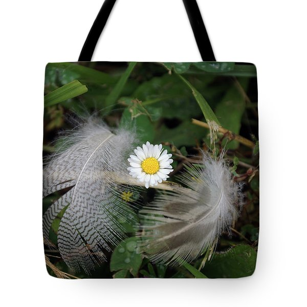 Tote Bag featuring the photograph Feathers On The Lawn #1 by Ben Upham III
