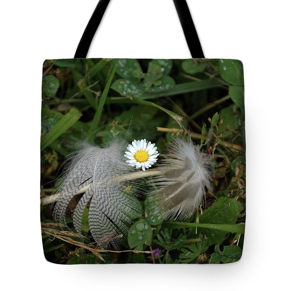Tote Bag featuring the photograph Feathers On The Lawn #2 by Ben Upham III