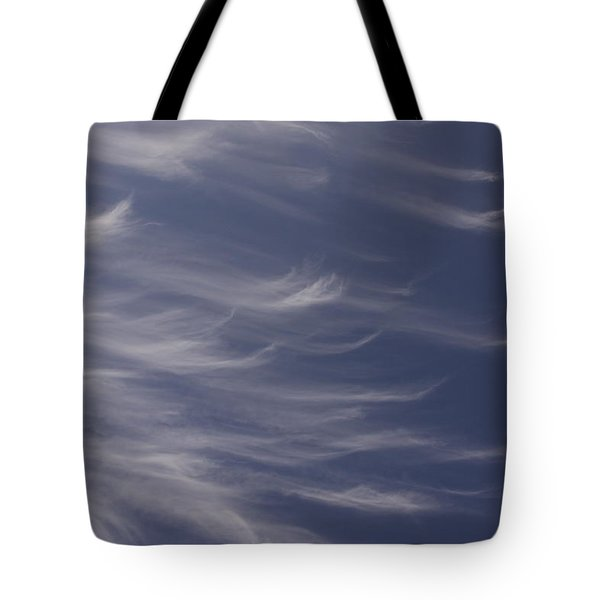 Tote Bag featuring the photograph Feathery Sky by Shari Jardina
