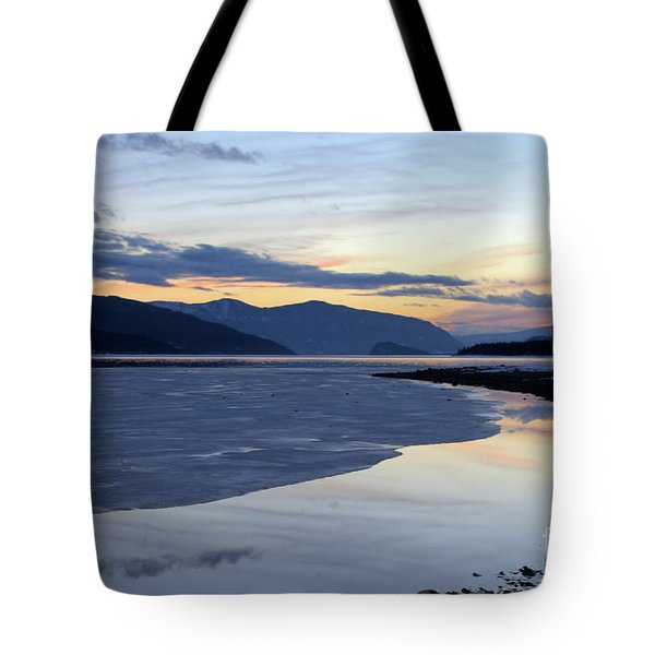 February At Dusk 5 Tote Bag by Victor K