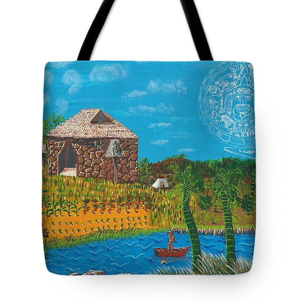 February  Mayan Farm Tote Bag