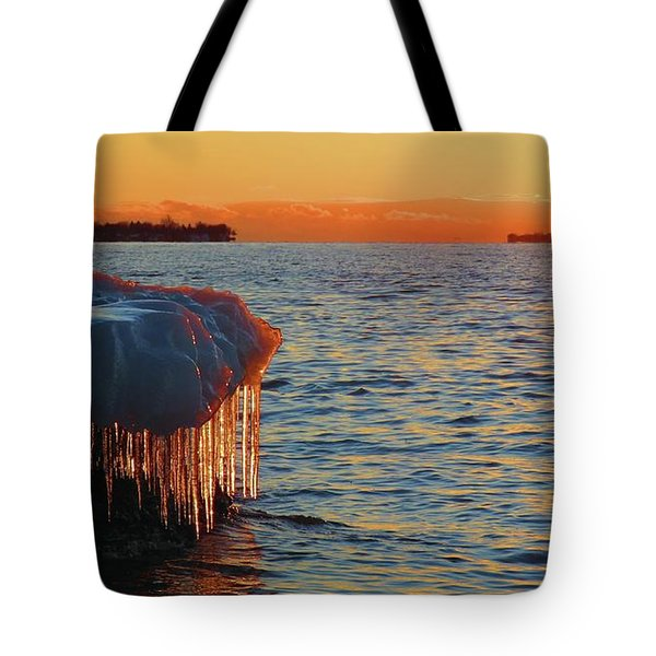 Feburary Sunset Cape Vincent Tote Bag