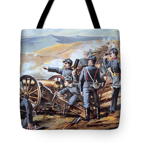 Federal Field Artillery In Action During The American Civil War  Tote Bag by American School