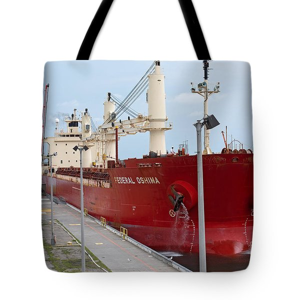Federal Oshima At Eisenhower Locks Tote Bag