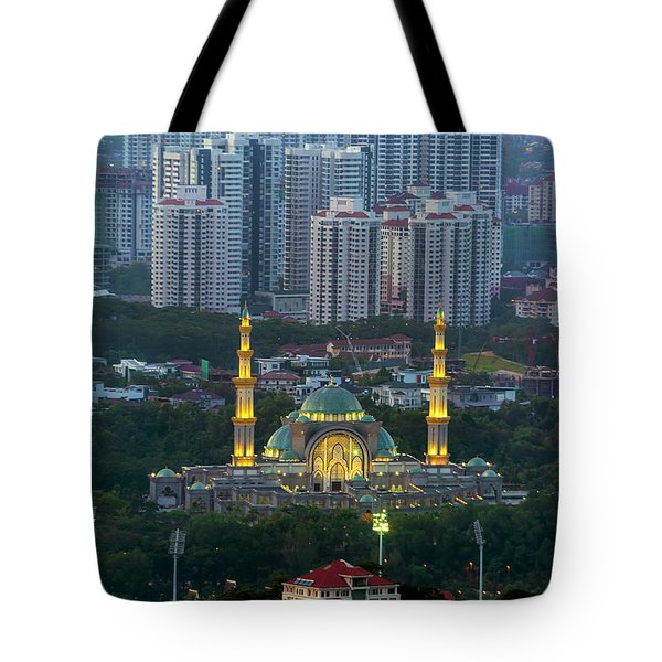 Federal Territory Mosque Tote Bag by David Gn
