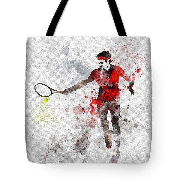 Federer Tote Bag by Rebecca Jenkins