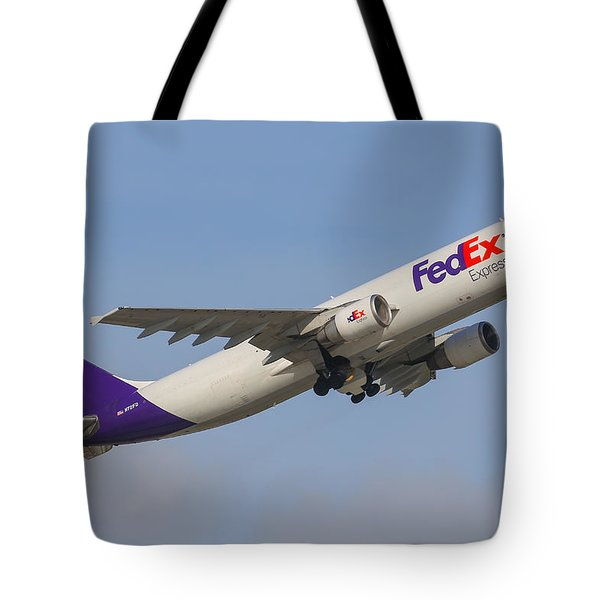 Fedex Airplane Tote Bag