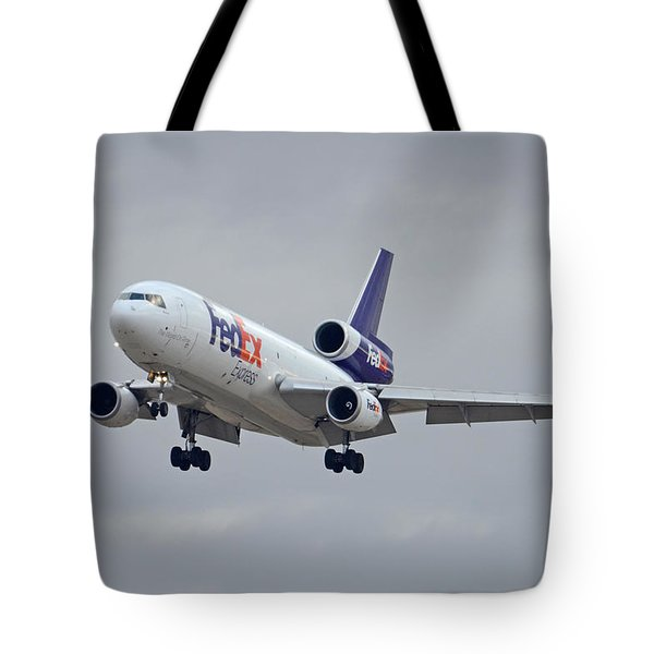 Fedex Express Mcdonnell Douglas Md-10-10f N359fe Phoenix Sky Harbor December 23 2015 Tote Bag