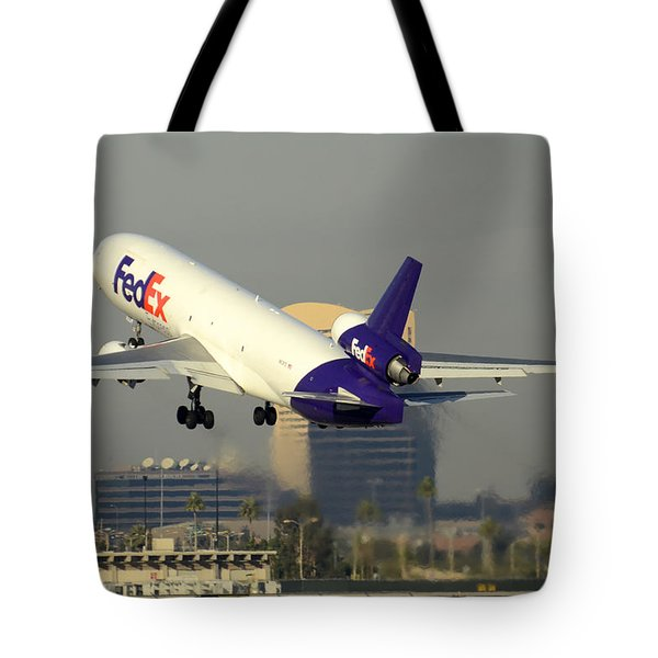 Fedex Express Mcdonnell-douglas Md-11f N631fe Phoenix Sky Harbor December 20 2015  Tote Bag