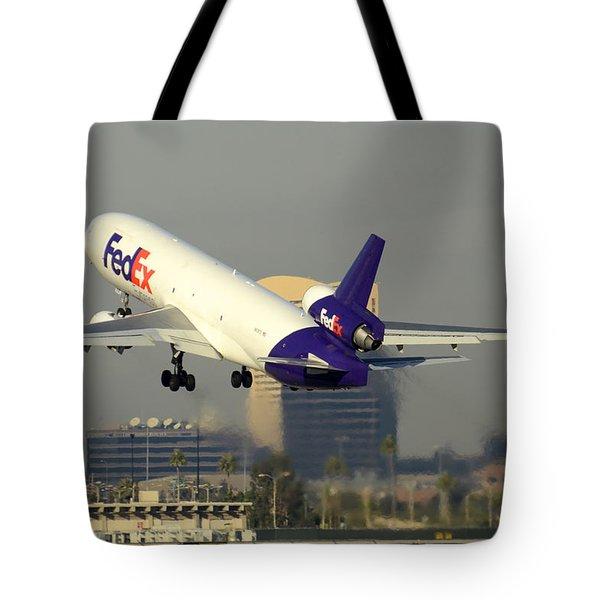 Fedex Express Mcdonnell-douglas Md-11f N631fe Phoenix Sky Harbor December 20 2015  Tote Bag