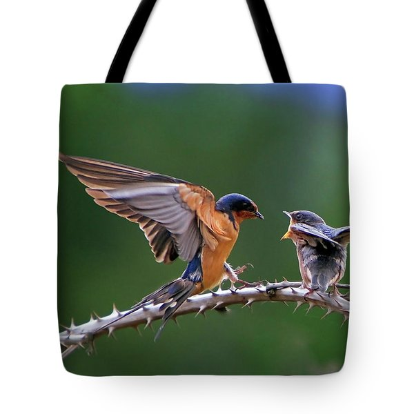 Tote Bag featuring the photograph Feed Me by William Lee